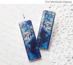 Winter Blue earrings  Winter jewelry  Gift for her by BeautySpot, $22.00