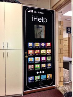 iHelp Door Cover Melissa: convert to iLead for Leadership board & Check out our awesome emoji classroom door my co-workers and I put ... Pezcame.Com