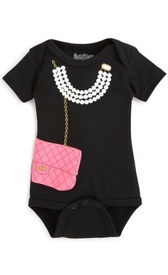 Your little lady-about-town will look adorable in this necklace and purse print…