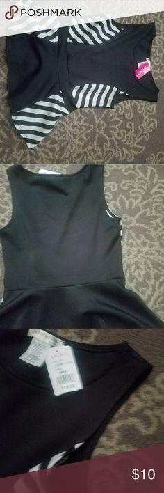 Black & White Stripe Peplum Black & White Stripe Peplum Agaci Tops Tees - Short Sleeve