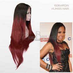 Ashanti celebrity lace wig 30inch virgin hair natural straight   Quality Lace Wigs, human hair, China Best Wigs