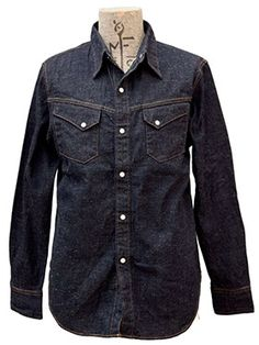 An original mfsc pattern, inspired by vintage workwear and western shirting. Four options of New Old Stock cotton selvedge 2 x 1 denim twill, with limited size availability for each. Workwear Fashion, Denim Fashion, Denim Shirt Men, Denim Jeans, Tailored Shirts, Western Shirts, Appaloosa, Work Wear, Vintage Outfits
