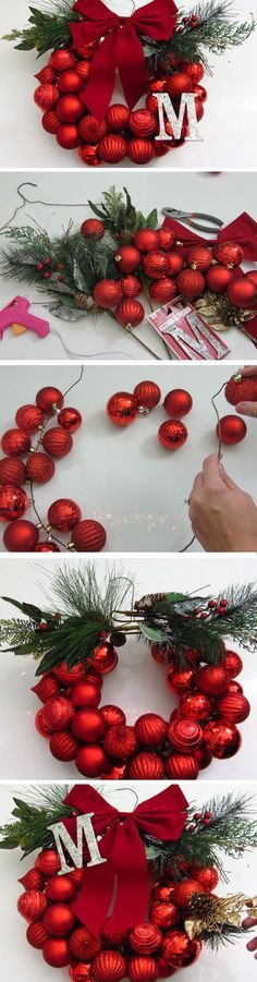 Monogram | DIY Dollar Store Christmas Decorations Ideas