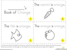 Preschool Reading & Writing Worksheets: The Color Orange