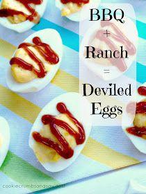 Cookie Crumbs & Sawdust: bbq + ranch deviled eggs