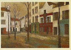 Rue de Venise in Paris Fine Art Postcard Maurice Utrillo