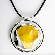 Collier ambre de la Baltique de soleil / grand jaune collier de pierre gemme / ambre véritable de la Baltique de guérison Collier / Collier en ambre argent / Pierre collier