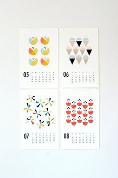 simple graphic 2013 wall calendar #methodholidayhappy