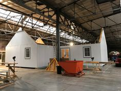 Rear of 2 bedroom 90m2 Wee House in our workshop.