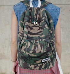 Camo backpack by Frank.