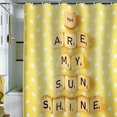 you are my sunshine. mit scrabble steinen auf Duschvorhang http://www.originellefotogeschenke.de/produkte/duschvorhang.aspx