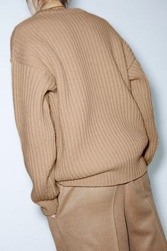 knitGrandeur: Camel Monochrome | Chunky Rib Sweater