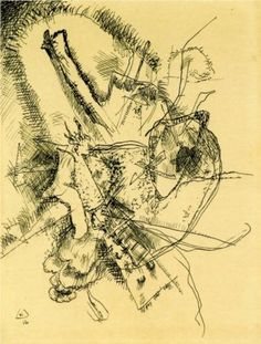 Wassily Kandinsky, Drawing for Etching II, 1916, Private Collection