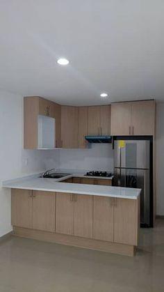 Remodelacion Despacho de Contadores: Cocinas de estilo moderno por H+R ARQUITECTOS #remodelacioncocina #remodelaciondecocinas