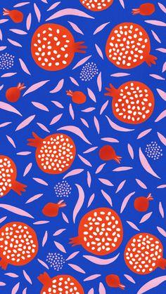 Pattern Illustration, Watercolor Illustration, Clean Design, Your Design, Pomegranate, Flyer Design, Illustrators, Graphic Design, Gallery