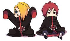 """I'm so cute, Danna! Hmm"" ""Yeah... So what, so am I..."" ""Look at us everybody! We're chibis! Hmm"" ""Deidara, shut up! The fan-girls will hear and we're complete vulnerable and defenseless!"" ""Um... Danna... Hmm"" ""What?"" ""You just shouted that out loud. Hmm"" ""... Darn it..."" "".... Yeah, I'm cute! Hmm"" ""....."""