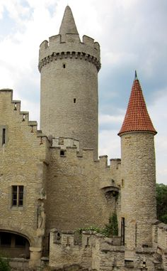 Towers of Kokořín gothic castle (Central Bohemia), Czechia