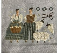 Cross Stitch Samplers, Cross Stitch Animals, Crossstitch, Embroidery Ideas, Primitive, Needlework, Patterns, Sheep, Cross Stitch