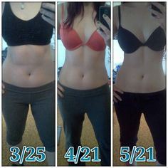 """Fit • Before & After (Height 5'5"""", first photo 148.6, second photo 155.1, third photo 145.8)"""