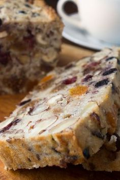 Paleo Banana Fruitcake. Uses a LOT of nuts and nut flours but might be able to reduce that somewhat with coconut, etc.