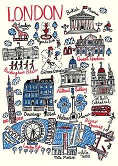 Londen Cityscape Kunstdruk van Julia Gash King & McGaw