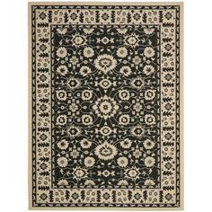 Perfect for any backyard, patio, deck or along the pool, this rug is great for outdoor use as well as any indoor use that requires an easy to maintain rug. This rug has a Cream background and displays stunning panel colors of Black and Red.