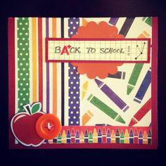 Back To School Card #fall #cardmaking #easyDIY