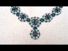 Winterglow Necklace Beading Tutorial by HoneyBeads1 (with pearls) - YouTube