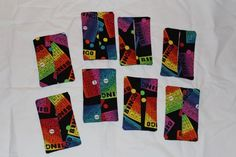 Set of 8 Bingo fabric purse tissue holders with free shipping to USA | pmscrafts - Bags & Purses on ArtFire