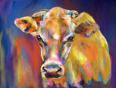 Colorful Cow  Print