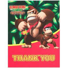 Donkey Kong Thank-You Notes Package includes thank-you notes (with envelopes). Mario Bros., Mario And Luigi, Super Mario Party, Super Mario Bros, Airwalker Balloons, Unicorn Party Supplies, Classic Video Games, Donkey Kong, Thank You Notes