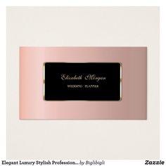 Tarjeta De Visita Profesional elegante de lujo elegante
