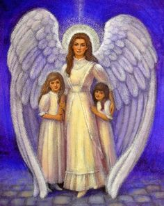 angel guardian children angels spiritual art
