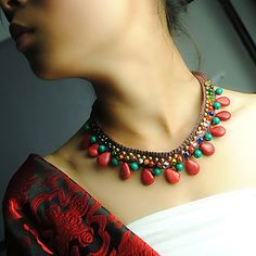 collar de cristal de Bohemia de la original, tibetano de la mujer 935276 2016 – $19.676