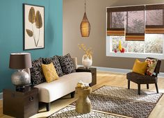 This is the project I created on Behr.com. I used these colours: BALI BLISS(PPU13-5),COLLECTIBLE(PPU7-4),CARIBE(PPU13-1),