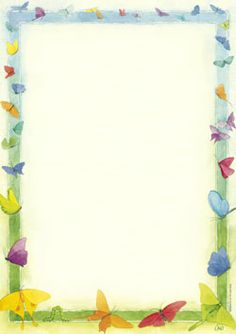 Schreibblock mit Rand aus Schmetterlingen. Borders For Paper, Borders And Frames, School Border, Page Borders, Frame Background, Diy Invitations, Writing Paper, Letterhead, Imvu