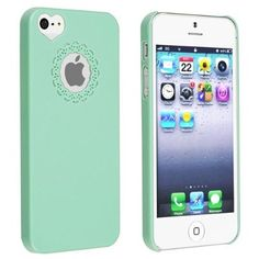 eForCity Mint Green Sweet Heart Snap-on Case + Colorful Diamond Screen Protector compatible with Apple® iPhone® 5 / 5S:Amazon:Cell P...