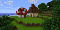 Minecraft Mushroom Houses Their so cute How do I ever build a regular hut again? Cute minecraft houses Minecraft garden Minecraft houses