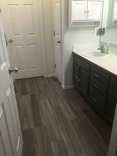 TrafficMASTER Allure   6 in. x 36 in. Dove Maple Resilient Vinyl Plank Flooring  Glidden® Trim, Door & Furniture Paint