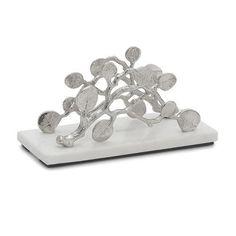 Michael Aram Botanical Leaf Vertical Napkin Holder Marble Base