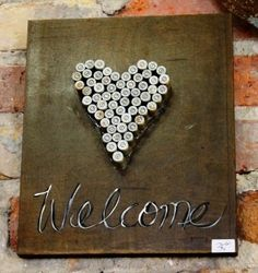 Bullet Casing Welcome Sign available at Atlanta Gift Shop- Re-inspiration Store $39.95 Made from #bullet casings
