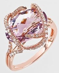 "Say ""I do"" with this stunning pink diamond set in rose gold. #Wow #LuxBride"