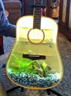 Ideas Aquariums Fish Guitar Fish Awesome Fish Tanks Guitar Aquariums