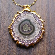 Purple Stalactite Druzy Necklace