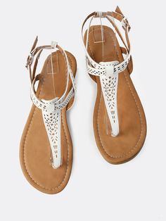 Shop Lazer Cut Geo Thong Sandals WHITE online. SheIn offers Lazer Cut Geo Thong Sandals WHITE & more to fit your fashionable needs.