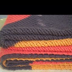 Love the colors in this blanket. Bias blanket. #knit