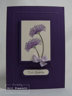 Stampin Up - sympathy, but could be anything, reason to smile