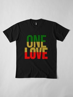 Rasta color one love t-shirt, click the link to see all size and colors Love S, First Love, Jah Rastafari, Rasta Colors, Love T Shirt, Wash Bags, Large Prints, Tshirt Colors, Looks Great