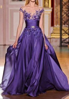 What a gorgeous purple gown