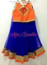 Kids lehenga baby frock lehanga half saree designer long gown girls top tunic
